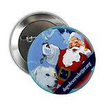 Santa Unchains Dog Button