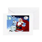 Santa Unchains Dog Greeting Cards (Pk of 10)