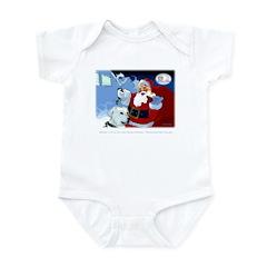 Santa Unchains Dog Infant Bodysuit