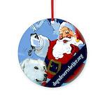 Santa Unchains Dog Ornament (Round)