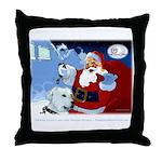 Santa Unchains Dog Throw Pillow
