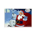 Santa Unchains Dog Rectangle Magnet