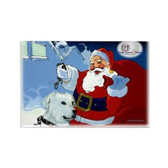 Santa Unchains Dog Rectangle Magnet