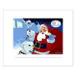 Santa Unchains Dog Small Poster