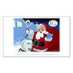 Santa Unchains Dog Rectangle Sticker