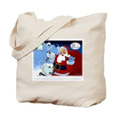 Santa Unchains Dog Tote Bag