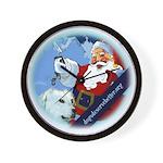 Santa Unchains Dog Wall Clock