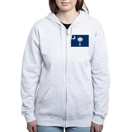 South Carolina Flag Women's Zip Hoodie