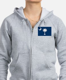 South Carolina Flag Zip Hoodie