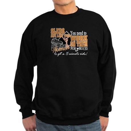 Sleds are like Women Sweatshirt (dark)