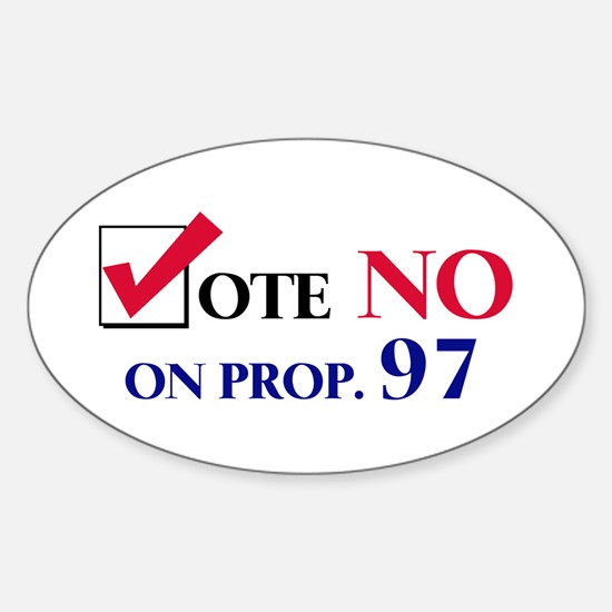 Vote NO on Prop 97 Oval Decal