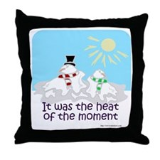 Melted Snow Love Throw Pillow