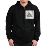 Rhino with an Attitude Zip Hoodie (dark)