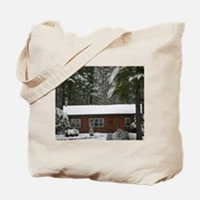 Cozy Log Cabin Tote Bag