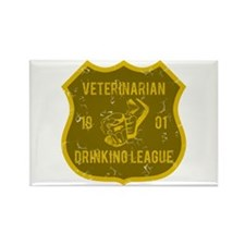 Veterinarian Drinking League Rectangle Magnet