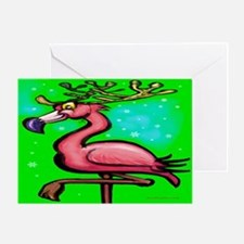 Unique Funny christmas flamingo Greeting Card