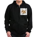 Baby Fox Zip Hoodie (dark)
