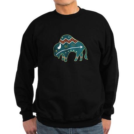 Native Buffalo Design Sweatshirt (dark)