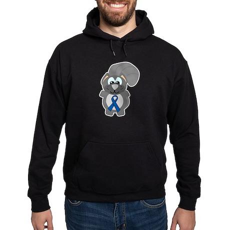 Blue Awareness Ribbon Goofkin Hoodie (dark)