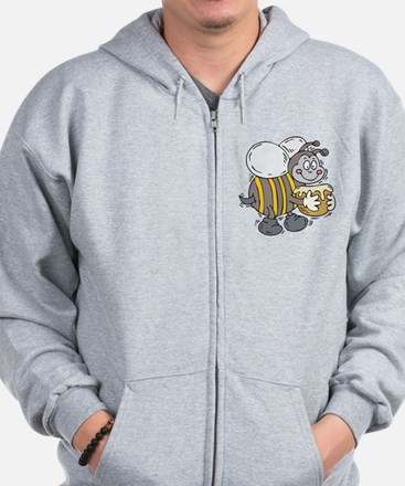 Happy Honey Bee Zip Hoodie