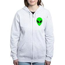 Alien Head Zip Hoodie