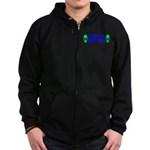 Aliens For Hillary Clinton Zip Hoodie (dark)