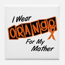 I Wear Orange For My Mother 8 Tile Coaster