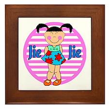 Chinese Girl Big Sister Jei Jei Framed Tile