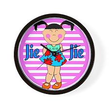 Chinese Girl Big Sister Jei Jei Wall Clock