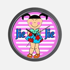 Chinese Girl Big Sister Jei Jei Wall Clock