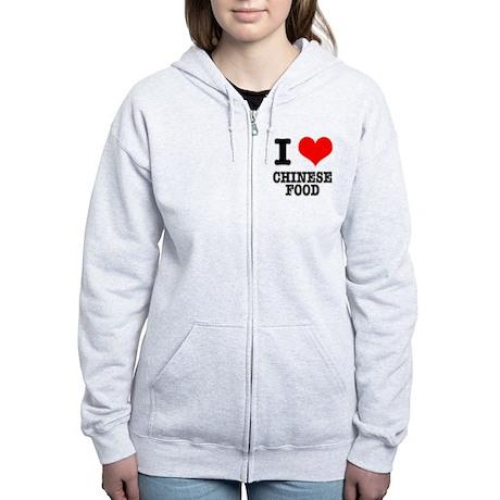 I Heart (Love) Chinese Food Women's Zip Hoodie