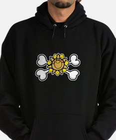 Happy Sun Crossbones Design Hoodie (dark)
