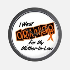I Wear Orange For My Mother-In-Law 8 Wall Clock