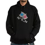 Cute Needle & Thread Design Hoodie (dark)