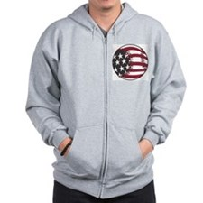USA Stars and Stripes Basebal Zip Hoodie