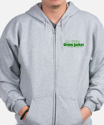 Little Green Jacket Zip Hoodie