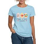 Peace Love Crochet Women's Light T-Shirt
