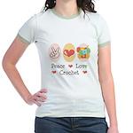 Peace Love Crochet Jr. Ringer T-Shirt