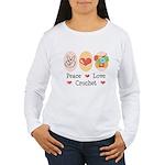 Peace Love Crochet Women's Long Sleeve T-Shirt