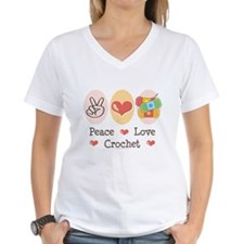 Peace Love Crochet Shirt