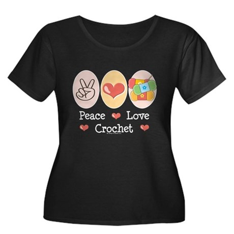 Peace Love Crochet Women's Plus Size Scoop Neck Da