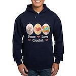 Peace Love Crochet Hoodie (dark)