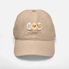 Peace Love Crochet Baseball Baseball Cap