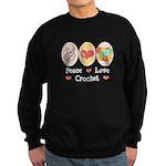 Peace Love Crochet Sweatshirt (dark)