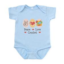 Peace Love Crochet Infant Bodysuit