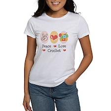 Peace Love Crochet Tee