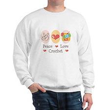 Peace Love Crochet Sweatshirt