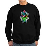 Evil Juggling Jester Clown Sweatshirt (dark)