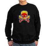 Flaming Skull & Crossbones Sweatshirt (dark)