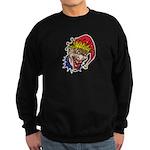 Laughing Evil Grin Clown Sweatshirt (dark)